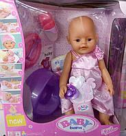 Пупс кукла 42 см типа беби берн (baby born) саксессуарами, горшок, соска, подгузники,пьет-писяет, 805288-ВР