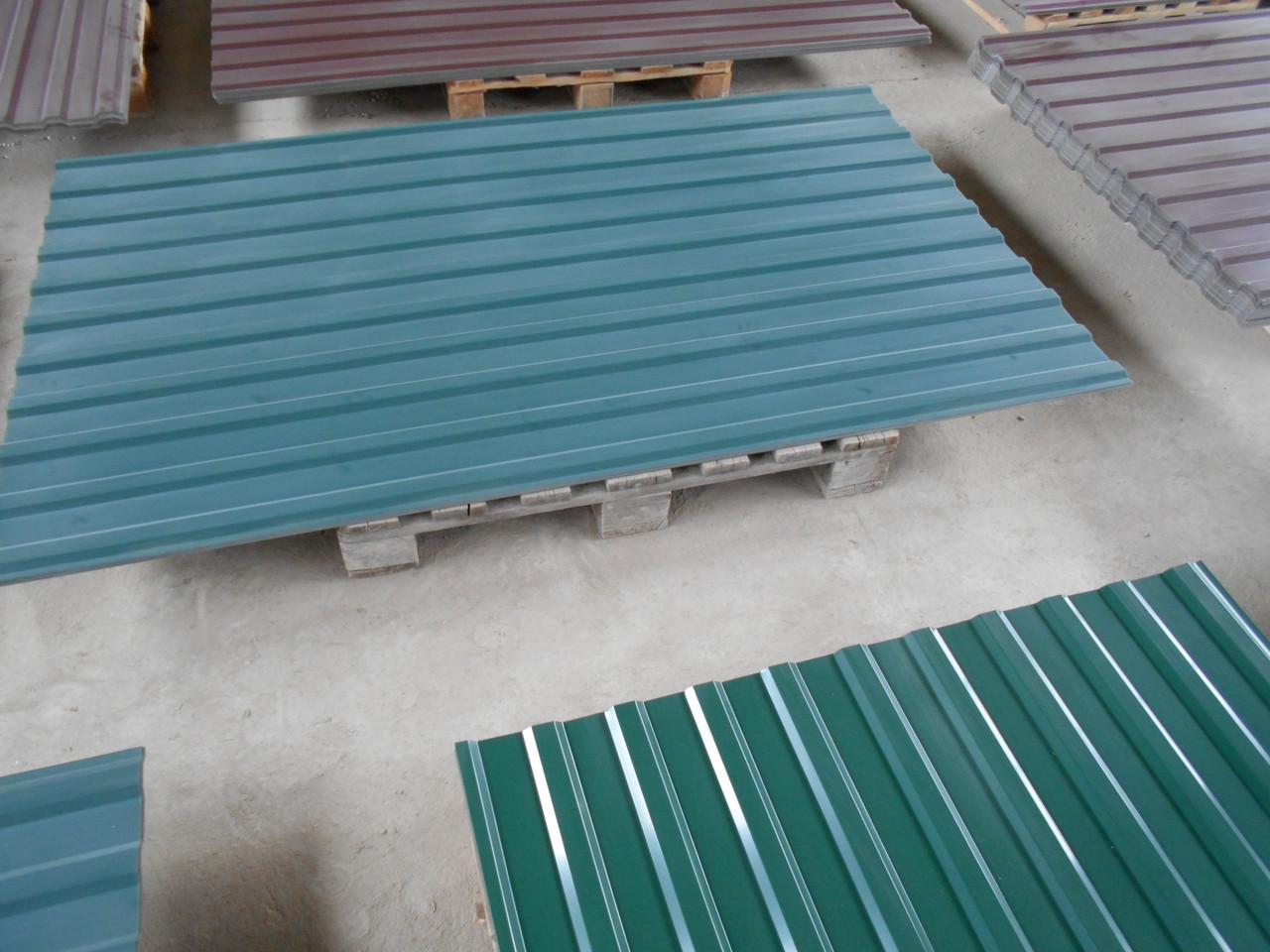 Профнастил (профлист) зеленый RAL-6005 1185/1500 мм.