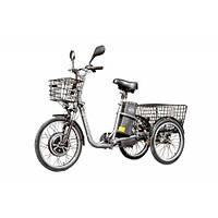 Электровелосипед трехколесный грузовой VEGA HAPPY 2019 (трицикл) + реверс + Lithium аккумулятор серый