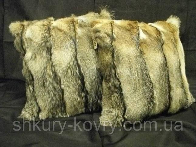 Ексклюзивна хутряна подушка з хутра канадської лисиці