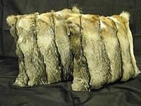 Эксклюзивная меховая подушка из меха канадской лисы