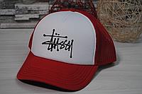 Кепка бейсболка красная STUSSY | Кепка Стусси | Печать на кепках