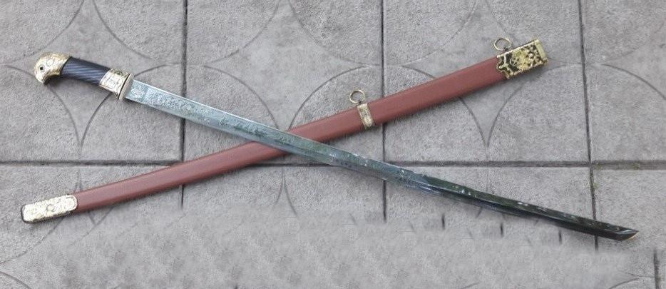 Сувенирное оружие Шашка ФТС, клинок с гравировкой стальной не заточен с орлом на рукояти + ножны в коричневом