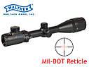 Оптический прицел Walther 3-9x40 AOE Mil-Dot отстройка параллакса ударопрочный 2 цвета прицельной, фото 6