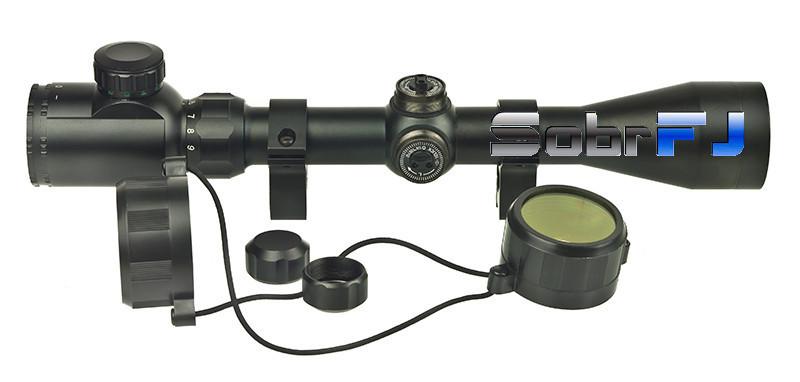 Оптический прицел с подсветкой шкалы 3-9x32E + кольца высокие 11ммударопрочный 2 цвета прицельной марки