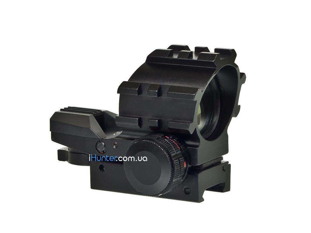 Прицел коллиматорный Kandar KD-112 для крепления 21 мм планка Вивер/ Пикатинни 2 Цвета подсветки 4 вида