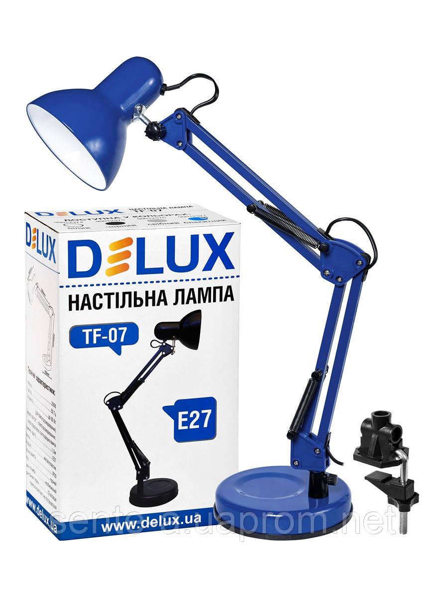 Настольный светильник TF-07 Е27 голубой  Delux