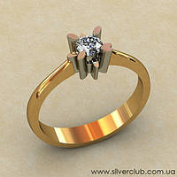 Золотое кольцо для предложения руки