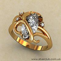 Необычное кольцо золоте