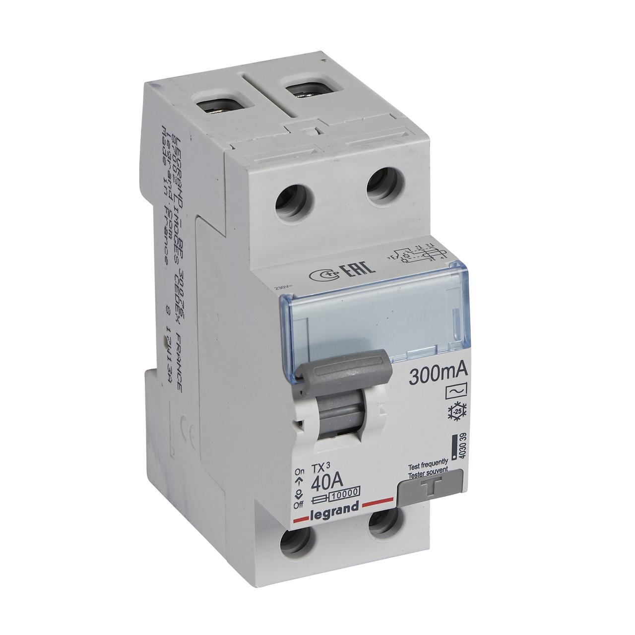 TX³ Диференційне Реле 2П 40A 300mA -AC
