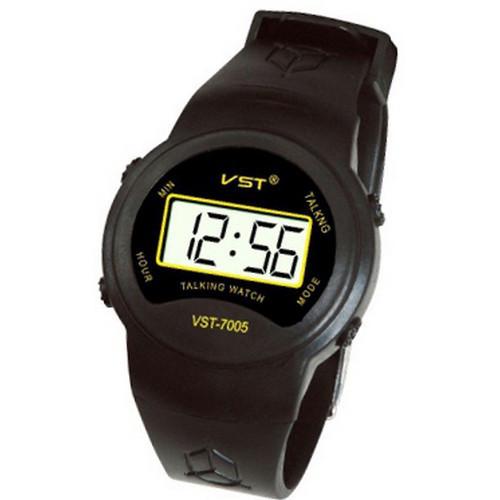 Часы наручные говорящие vst для слепых, слабовидящих людей, сообщают текущее время, крупная кнопка