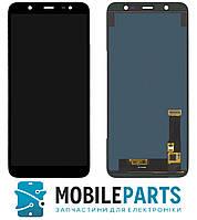 Дисплей для Samsung J810 Galaxy J8 2018 с сенсором Яркость регулируется (Черный) TFT подсветка оригинал
