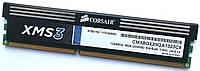Игровая оперативная память Corsair DDR3 4Gb 1333MHz PC3 10600U 2R8 CL9 (CMX8GX3M2A1333C9) Б/У, фото 1