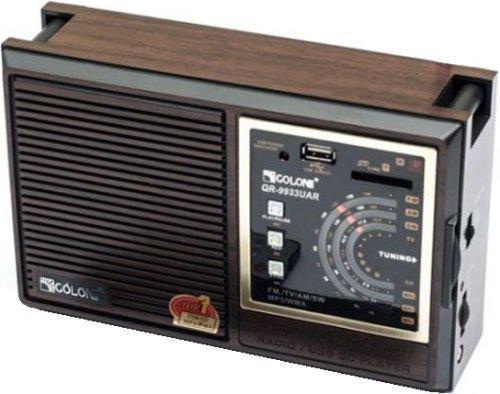Бумбокс, портативная колонка, Радио Golon  RX 306 слот для карты, аккумуляторная, мощный динамик