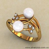 Необычное кольцо с жемчугом