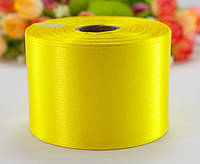 "Лента атласная 5см ширина (25 ярдов) ""LiaM"" Цена за рулон. Цвет - Жёлтый"