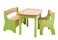 Набор EkoKids №1 цветной (стол+стул+лавочка) TM Mobler