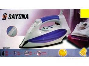 Утюг электрический 1800Bт SAYONA SY-6128 подошва керамическая, функция самоочистки, защита от накипи