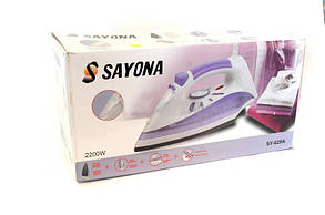 Утюг электрический 1800Bт SAYONA SY-629A подошва керамическая, функция самоочистки, защита от накипи