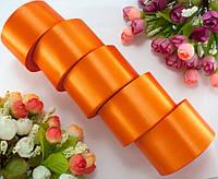 "(5 рулонов) Лента атласная 5см ширина (25 ярдов) ""LiaM"" Цена за блок Цвет - Оранжевый"