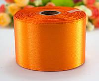 "Лента атласная 5см ширина (25 ярдов) ""LiaM"" Цена за рулон. Цвет - Оранжевый"
