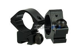 Кронштейн низкие кольца на планку 11 мм ласточкин хвост, 2 шт комплект для оптического/ коллиматорного прицела