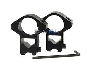 Кронштейн высокие кольца на планку 11 мм ласточкин хвост 2 шт комплект для оптического/ коллиматорного прицела