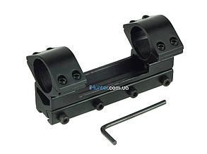 Кронштейн крепление моноблок для ствола оптического/ коллиматорного прицела с планкой 11 мм ласточкин хвост