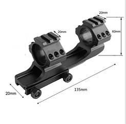 Кронштейн крепление моноблок 30 мм для ствола оптического коллиматорного прицела с планкой 21 мм