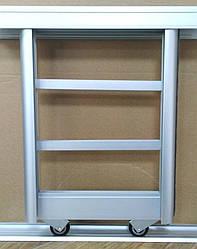 Раздвижная система шкаф-купе на 2 двери для самостоятельной сборки Ш1400мм х В2000мм