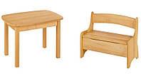 Набор EkoKids №2 (стол+лавочка) TM Mobler