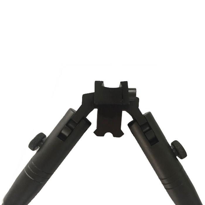 Сошки с прорезиненными ножками с креплением на планку ласточкин хвост 11 мм, высота 30-54 см