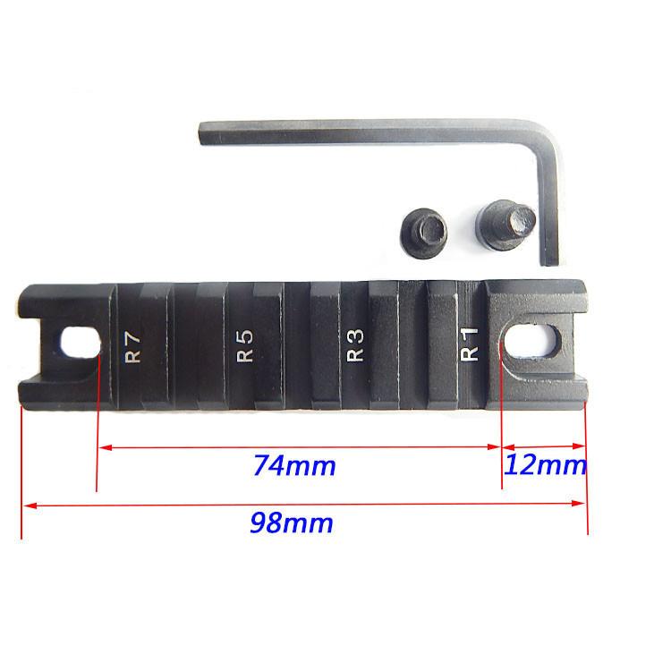 Планка Пикатинни для крепление оптического/ коллиматорного прицела, фонаря, лазера, ЛЦУ 21 мм