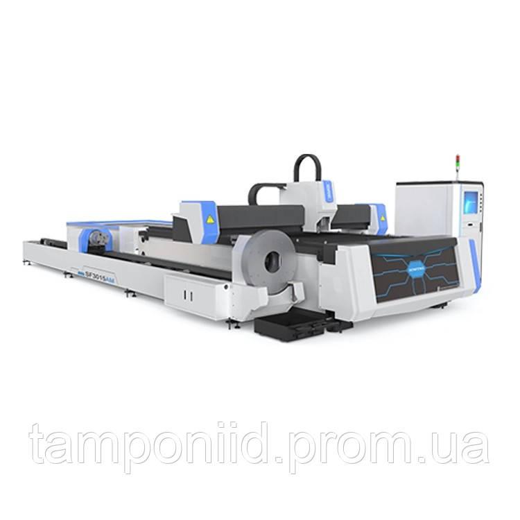Волоконно-лазерный станок для резки металлического листа и трубы со сменной платформой
