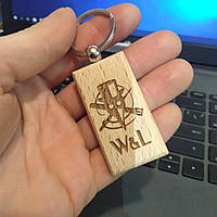 Деревянный брелок. Брелок на ключи.  Брелок из дерева. Оригинальный брелок. , фото 1