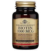 Биотин, Biotin, Solgar, 1000 мкг, 100 капсул