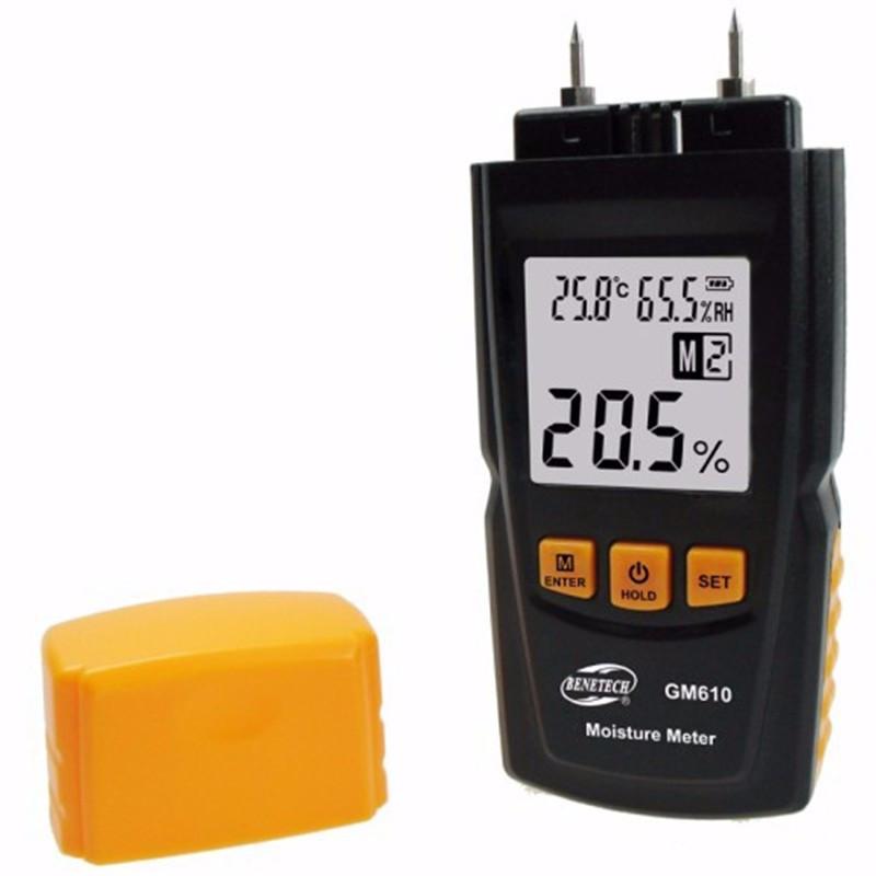 Влагомер гигрометр с ручным выбором древесины + термометр