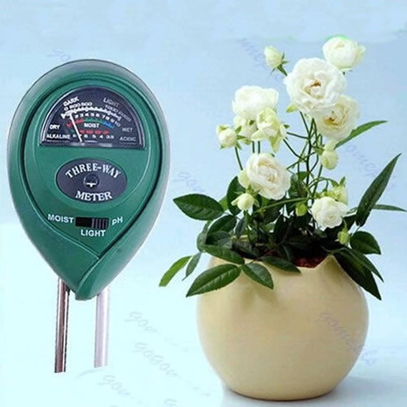Измеритель влажности, рН и освещенности почвы люксметр AMT-100 3 в 1