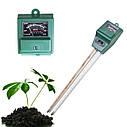 Измеритель влажности, рН и освещенности почвы люксметр AMT-100 3 в 1 , фото 4