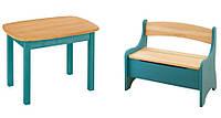 Набор EkoKids №2 цветной (стол+лавочка) TM Mobler