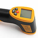 Безконтактний інфрачервоний термометр HT-826 діапазон від -50 до +550 °C, фото 7