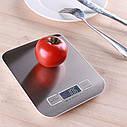 Весы кухонные LIESENSE с жк дисплеем до 5 кг стальные практичные, удобные, просты в управлении, фото 2