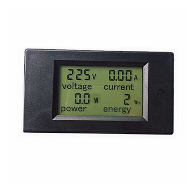 Счетчик электроэнергии встраиваемый с вольметром и амперметром 220 В