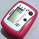 Цифровой шагометр / педометр компактный, простой, удобный, крепление на одежды, подсчет км, ккал, фото 10