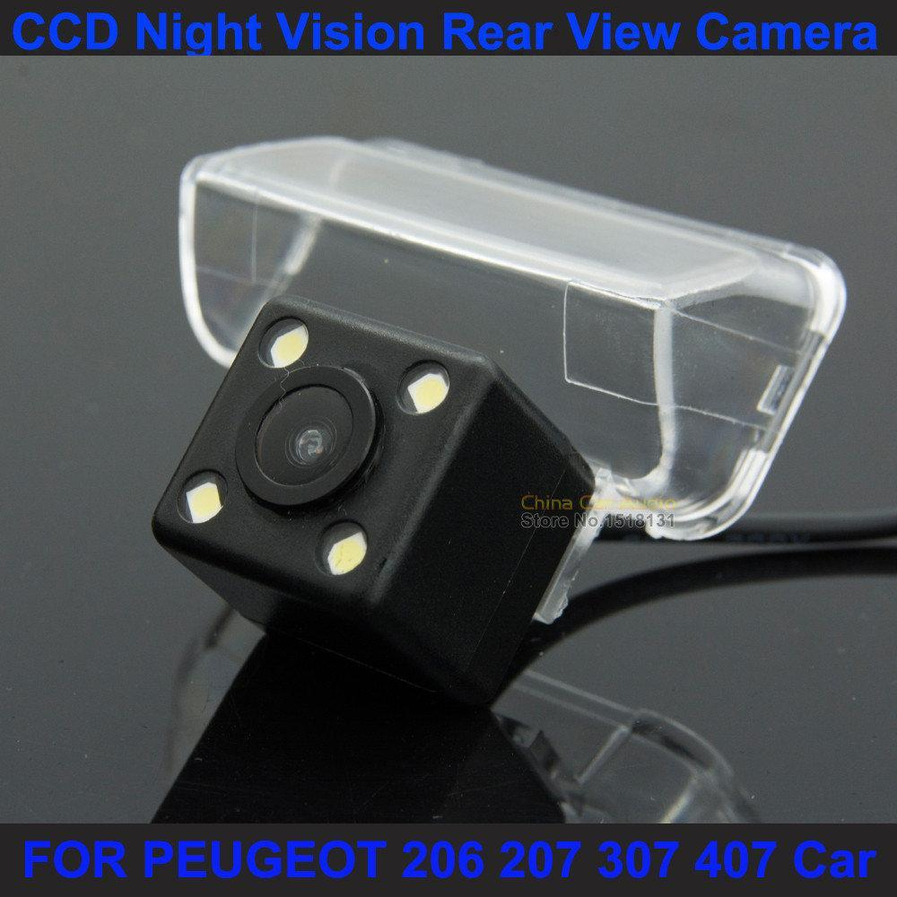 Камера заднего вида PEUGEOT 206 207 307 407 изображение цветная матрица CCD