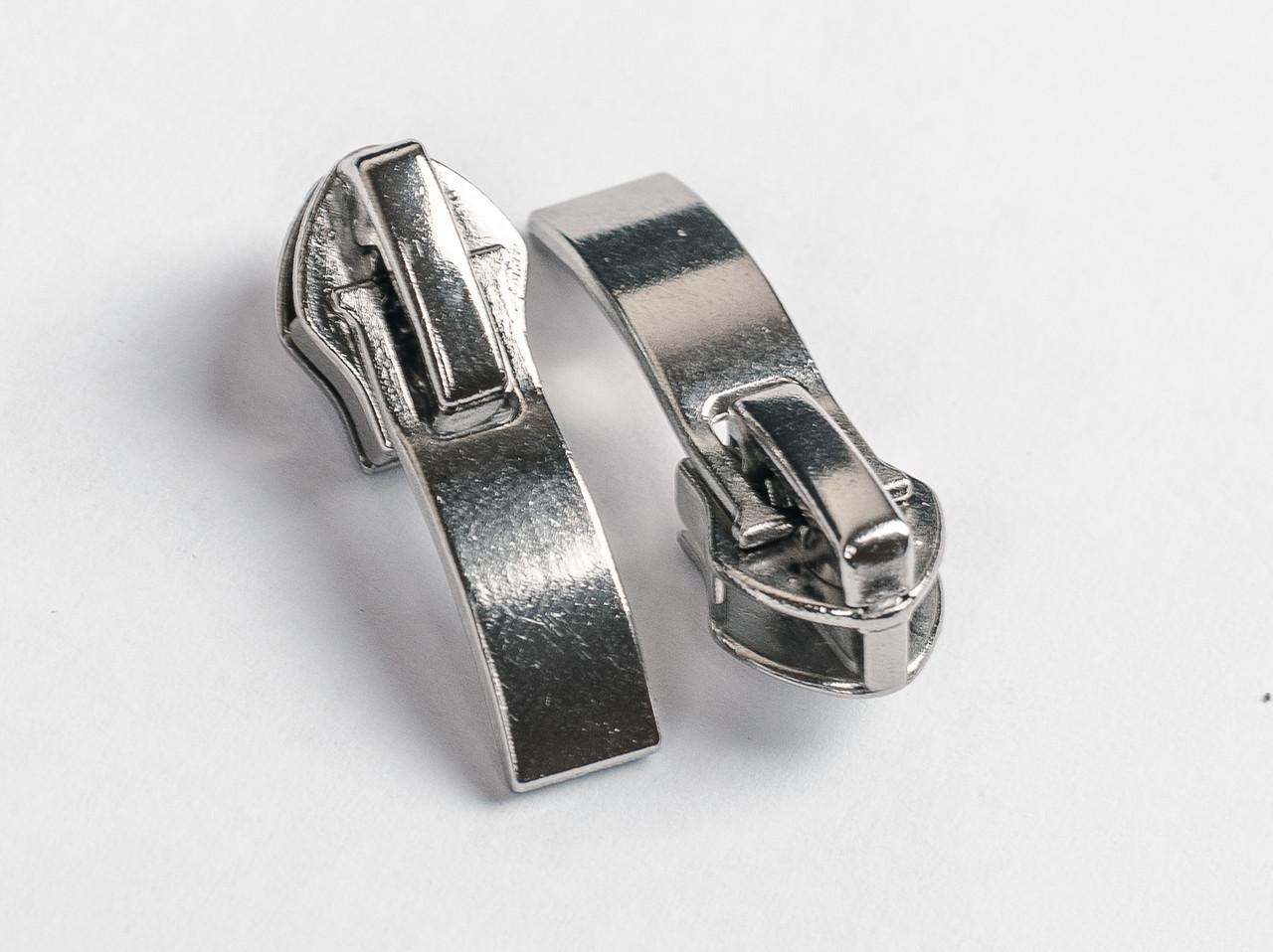 Бегунок №7 на спиральную молнию, art.015-н, цв. тем. никель лазерный