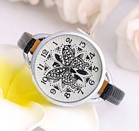 Наручные часы с бабочкой Fly black