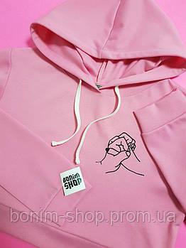Розовый Кроп худи