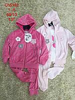 Велюровый костюм для девочек тройка S&D 1-5 лет