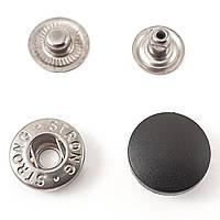 Кнопка АЛЬФА с Черной пластиковой шляпкой 17мм